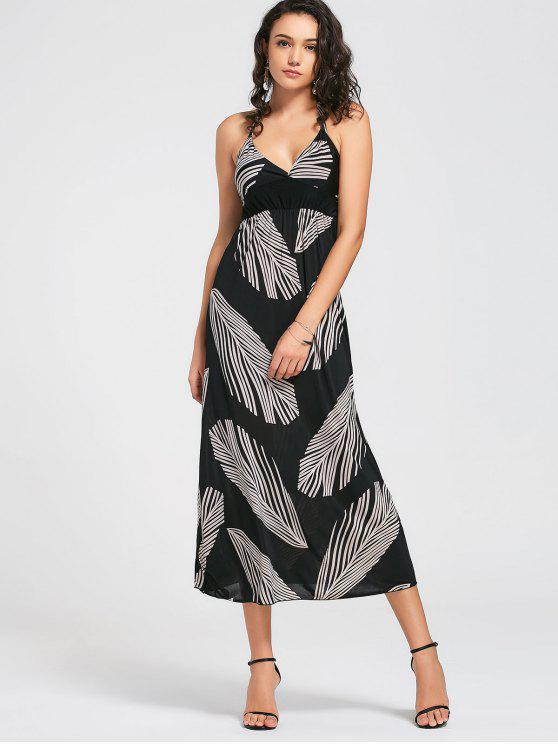 Vestido de encaje con plumas - Negro Única Talla