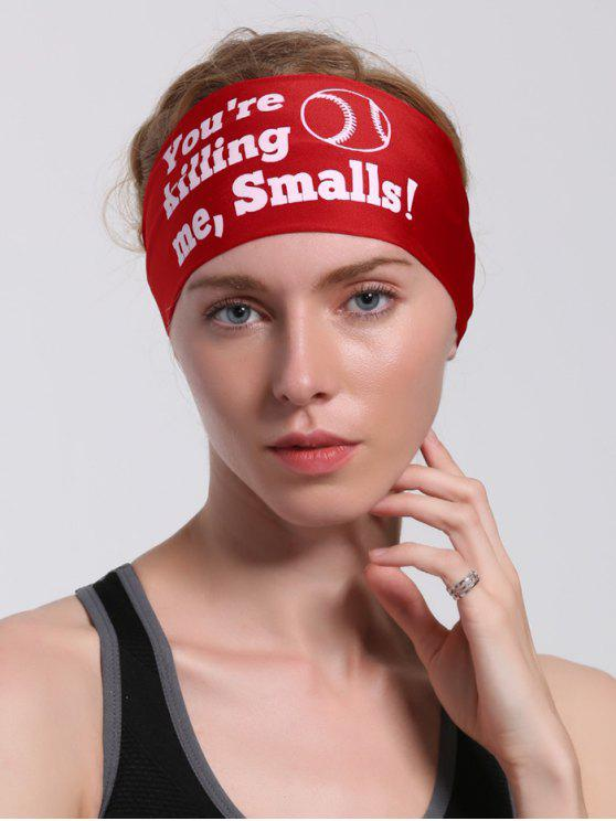 women's Letters Pattern Sport Cycling Headband - RED