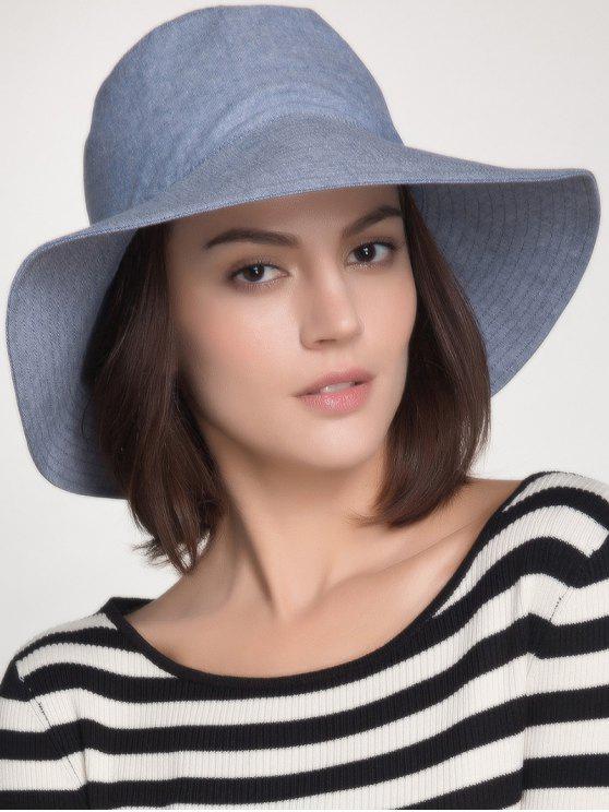 القطن المخلوطة عادي دلو قبعة الشمس - أزرق