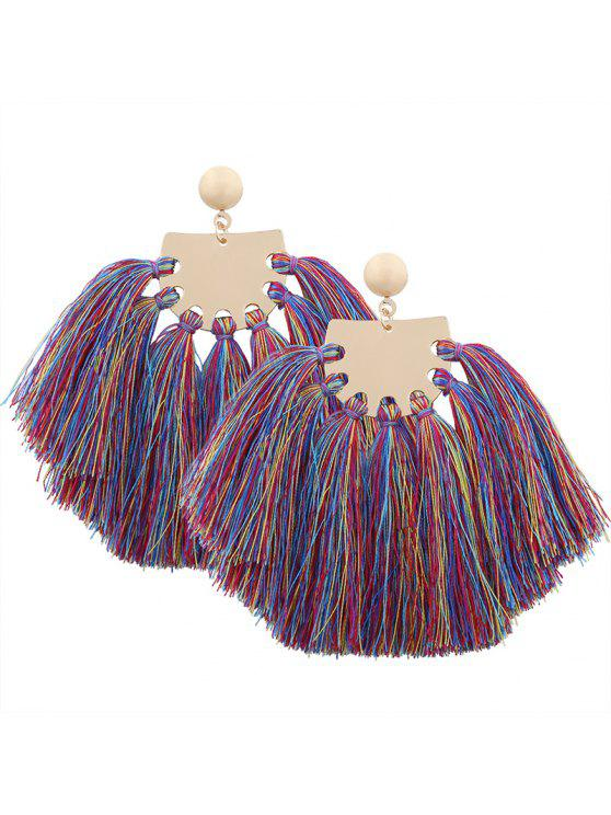 Statement Geometria Tassel Earrings - Cor Mistura