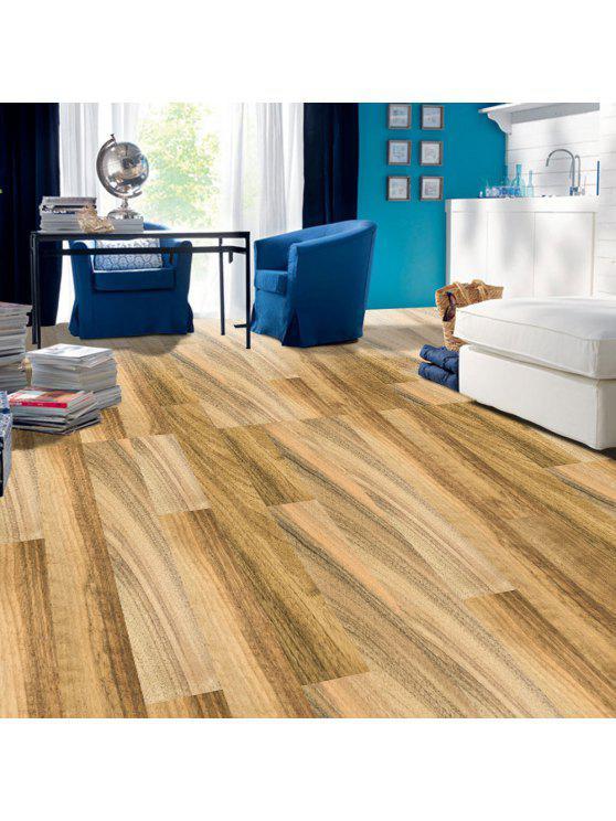 قابل للإزالة الخشب الحبوب الزخرفية الكلمة ملصقا - البني الفاتح