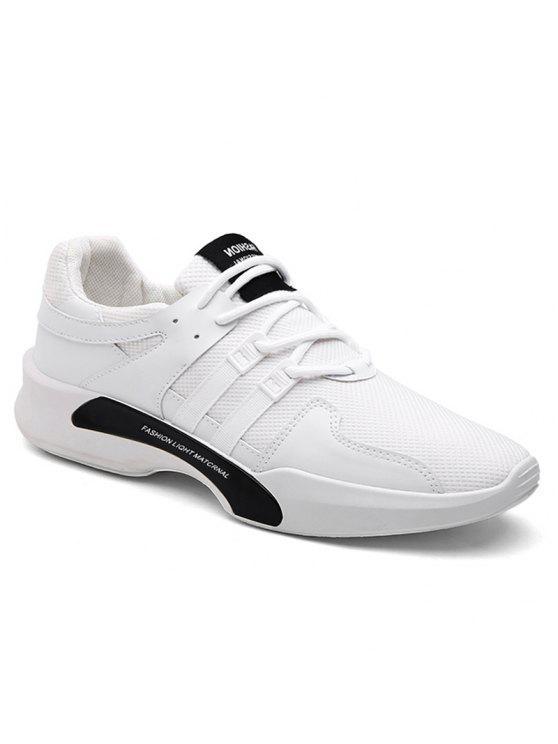 سويد إدراج شبكة تنفس أحذية رياضية - أبيض 44