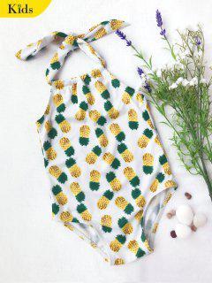 Maillot De Bain 1 Pièce Imprimé Ananas Pour Enfant - Blanc 7t