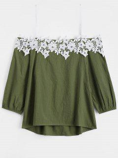 Cami Applique Top - Army Green