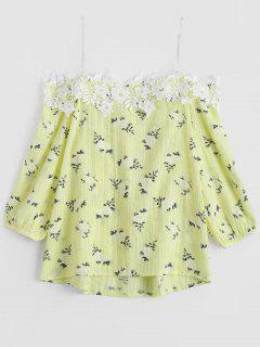 Cami Tiny Floral Applique Cami Top - Yellow