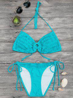 Ensemble De Bikini à Bande Relevée Rembourrée - Turquoise S