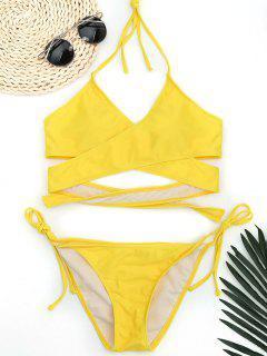 Bañador Con Cordones - Amarillo L