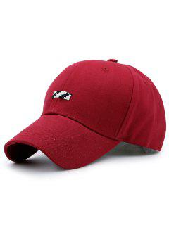 Tiny Rectangle Patchwork Baseball Hat - Red