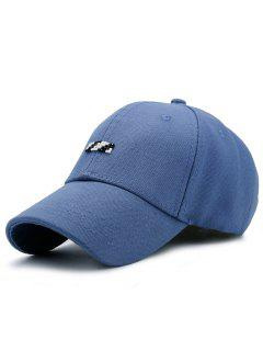 Tiny Rectangle Patchwork Baseball Hat - Blue