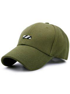 Tiny Rectangle Patchwork Baseball Hat - Green