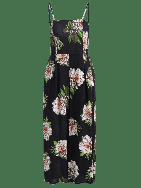 Combinaison Cami Impression Floral - Noir M Mobile