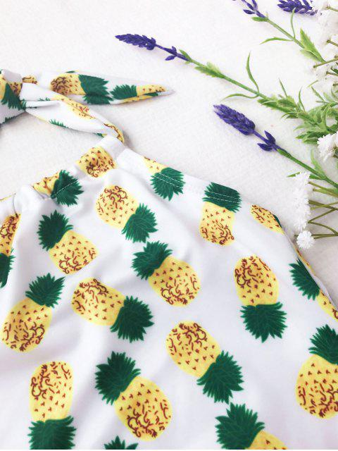 women's Kids Pineapple Print One Piece Swimsuit - WHITE 7T Mobile