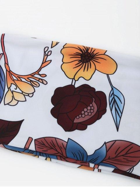 Ensemble de bikini floral épave - Blanc S Mobile