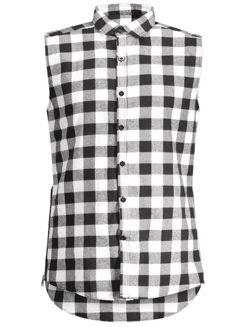 Chemise sans manches à manches contrastées - Gris M Mobile