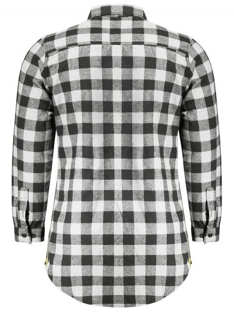 outfit Mens Casual Checked Shirt - GRAY M Mobile