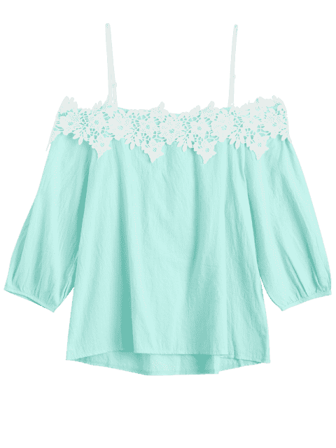 Top d'appliques Cami - Vert clair TAILLE MOYENNE Mobile