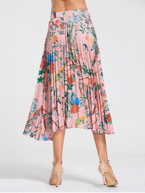 Jupe plissée Maxi florale - Floral S Mobile