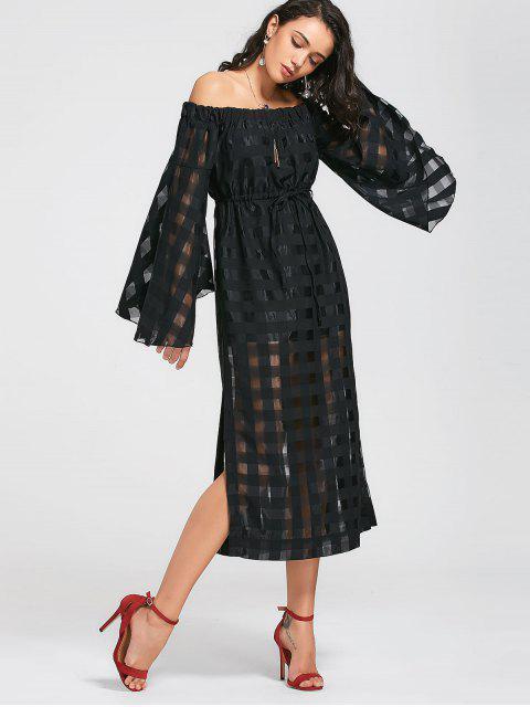Voir la robe Maxi épaule - Noir S Mobile