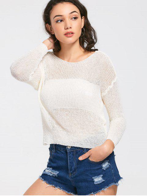 Tricots à manches courtes à manches longues - Blanc TAILLE MOYENNE Mobile
