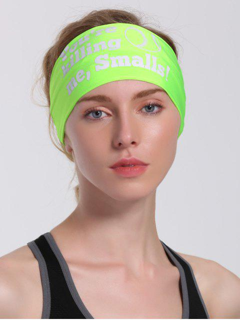 ladies Letters Pattern Sport Cycling Headband - NEON GREEN  Mobile