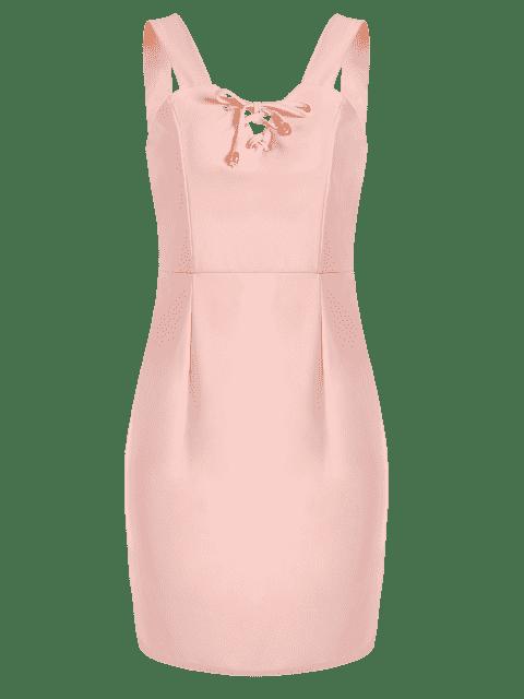 Mini robe à lacets - ROSE PÂLE XL Mobile