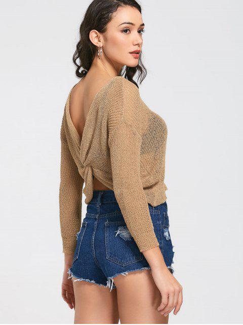 Tricots à manches courtes à manches longues - Kaki TAILLE MOYENNE Mobile