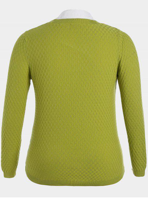 Pull taille taille Pull à manches longues - Vert clair 4XL Mobile