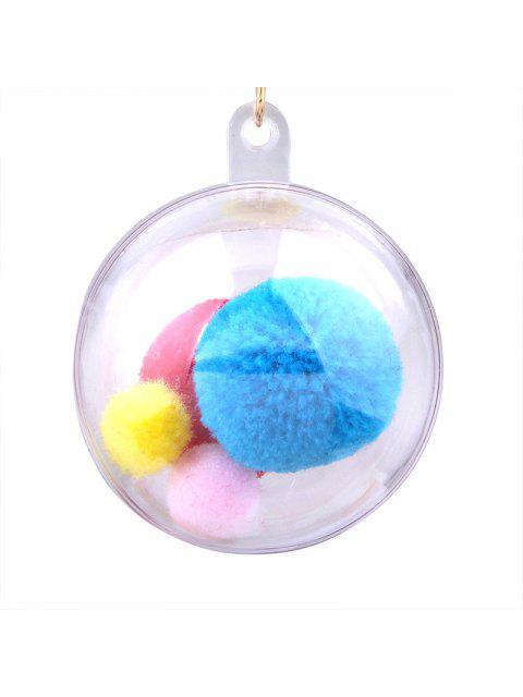 lady Fuzzy Pompon Ball Hook Drop Earrings - COLORMIX  Mobile