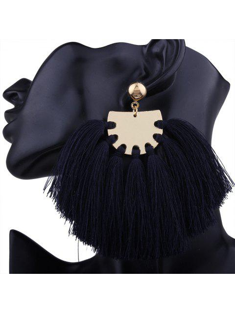 online Statement Geometric Tassel Earrings - NAVY BLUE  Mobile