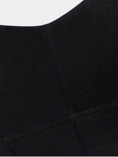 trendy Strappy Mid Impact Sports Bra - BLACK XL Mobile