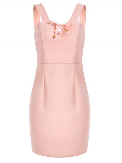 Anpassendes Minikleid mit Schnürsenkel - Pink M Mobile