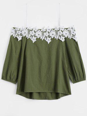 Top De Applique Cami - Verde