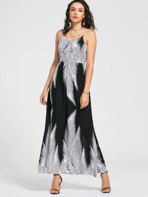 Vestido Maxi Tropical Tropical Vestido - Blanco Y Negro 2xl