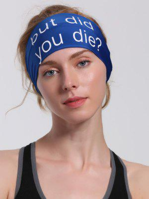 Hip Hop Sentence Printed Running Headband