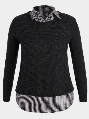 Pullover Stripe Plus Size Sweater