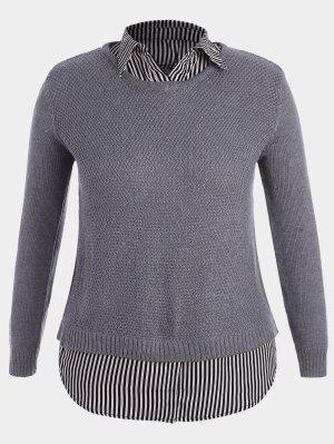 Übergröße Pullover mit Streifenmuster
