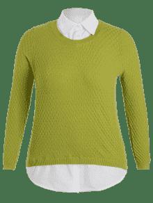 Claro De Verde Pullover Talla Grande 4xl UqIdzfnw