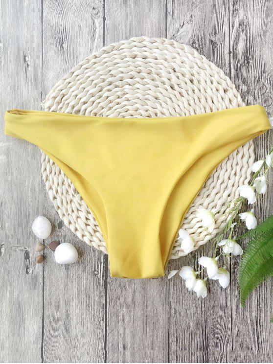 sale Low Rise Swim Hipster Bikini Bottoms - LEMON YELLOW L