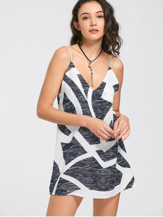 Mini abito da sera grafico - colori misti M