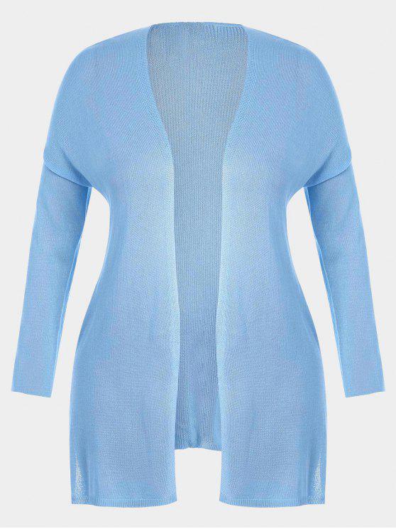 Cardigan à rayures ouvertes - Bleu clair 3XL