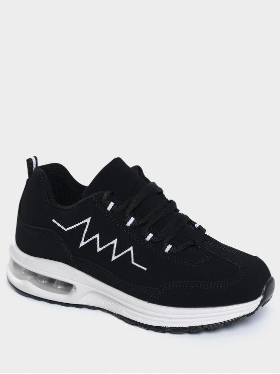Air Cushion Embroider Line Athletic Shoes - Noir 37
