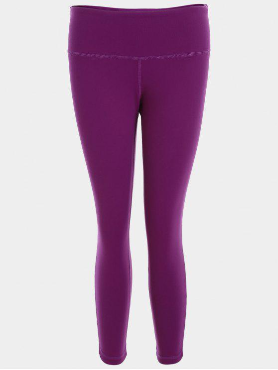 bc0194ae7a6330 25% OFF] 2019 Capri Mesh Cropped Athletic Leggings In PURPLISH RED ...