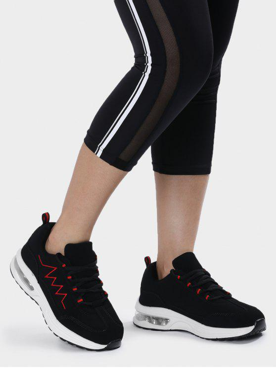 fashion Air Cushion Embroider Line Athletic Shoes - RED 38