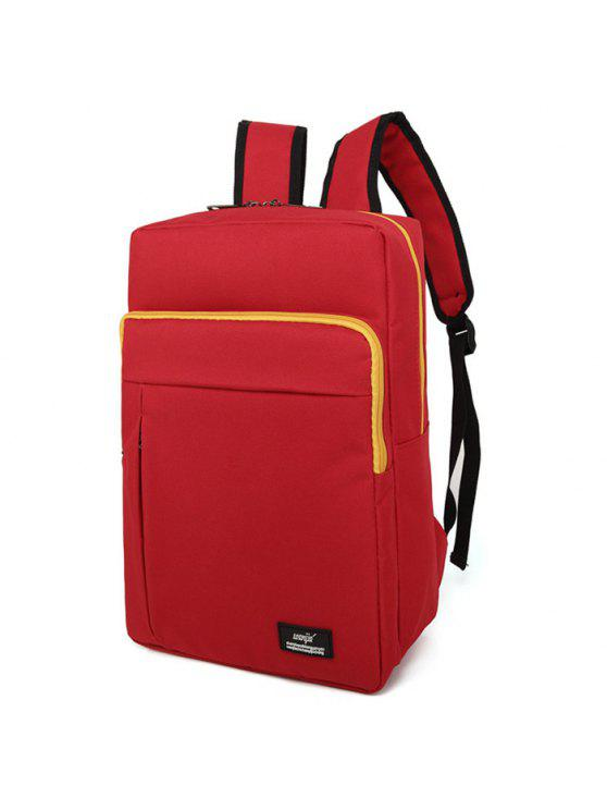 womens Padded Strap School Backpack - RED