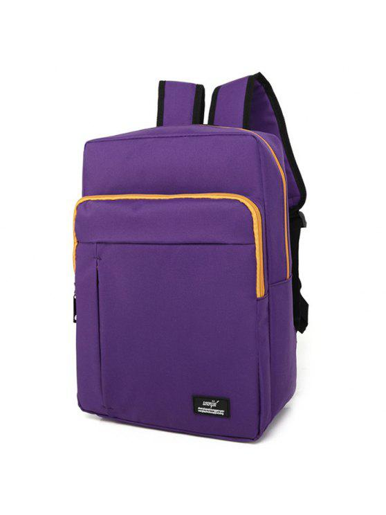 women's Padded Strap School Backpack - PURPLE