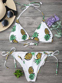 Pineapple String Bikini Set - White Xl