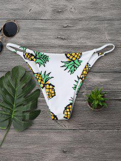Pineapple High Cut Swim Bottom - White S