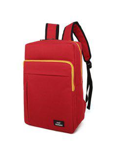 Padded Strap School Backpack - Red