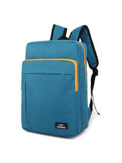 Padded Strap School Backpack - Peacock Blue