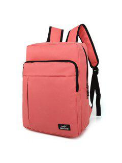 Padded Strap School Backpack - Pink